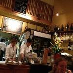 bar/cash register/kitchen in back