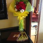 flowers and chocs on arrival :-D