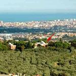 Veduta della proprietà di Colle Moro, Pescara e l'Adriatico sullo sfondo