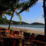 Das Restaurant nächst zum Strand