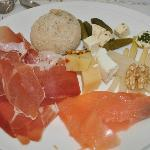 Ham, salmon, asparagus .... all for breakfast!