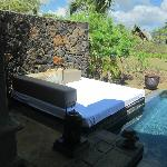 Outside plunge pool