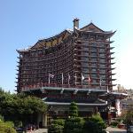 Modified Korean architeacture hotel in Busan