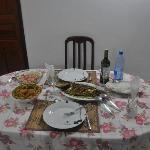 Repas préparé par la grand-maman