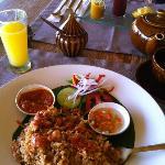 excellent Nasi Goreng at the restaurant