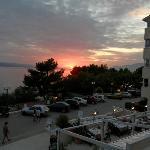 Solen går ned i Adriaterhavet.