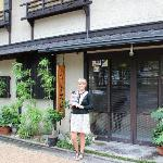 me outside the ryokan
