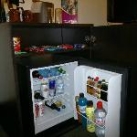 EXPENSIVE minibar, but very useful at midnight!.