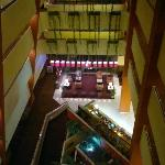 Main lobby & front desk from 5th floor