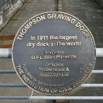 A plaque in testimony to the record-breaking dry dock.