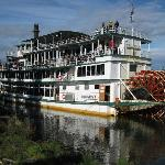 A view of the riverboat Discovery at the village along Chenas R.