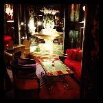 The hotel lobby bar