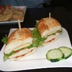 Luncheon sandwich at caré l'Infusion Lachute