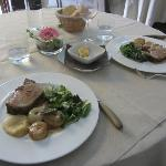 Roasted pork loin with perfectly caramelized cipollini onions