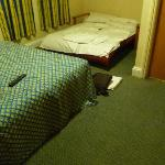 chambre exigue pour 4 personnes