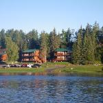 View of lodge from river