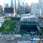 View of 911 Memorial site from the Terrace