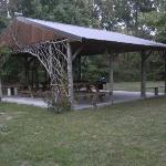 Cabin BBQ area
