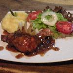1/4 Pollo con Salsa BBQ