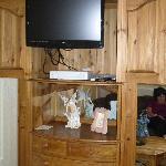 TV inside the cupboard