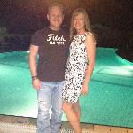 Us by the nite pool