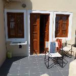 Terrasse davant la chambre