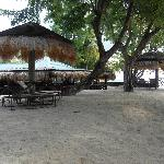 View of the restaurant from the beach