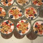 Breakfast parfaits  are a favourite at the Cranford