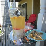 Treats on the deck, Cranford Inn Ved and Breakfast, Charlottetown, PEI