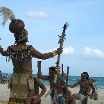 Xcalacoco show on the beach