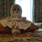 muñeca de toallon