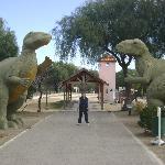 Dinosaurios en parque municipal