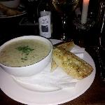 Excellent seafood Chowder at The Moorings