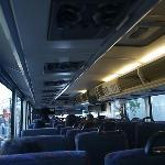 マンハッタン行きのバス風景