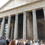 20 feet away the Pantheon