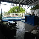 Lighthouse Villas patio/BBQ/pool
