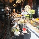 Breakfeast buffet at restaurant