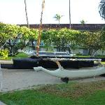 Outrigger built by the staff