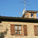 Herrliche Kamine am Dach