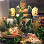 The amazing Prawn and Salmon tower in the restaurant for Dinner