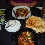Chicken Chana & Tandoori main courses + peshwari nan.