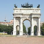 From Parco Sempione it is a nice walk to the Milan city center