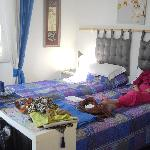 My Mam in the blue room