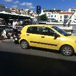"""The Yellow Peril"" (Need to be seen by the Cretan Drivers) in Agios Nickolias"