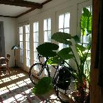 our bikes even had a lovely place to stay!
