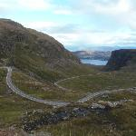 Near the top of the Bealach na' Ba (highest ascent in Britain) looking across Loch Kishorn