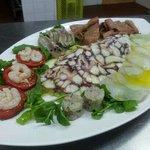 Fantasy plate,mix of various fish carpaccios