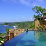 Private pool with a view