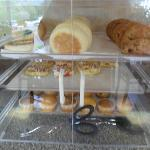 Variety of muffins, pastries and bagels