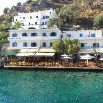 Vy från Daskalogiannis över hotel Sifis